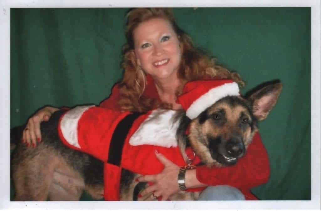 Tracy with service dog Arrow she trained while in prison