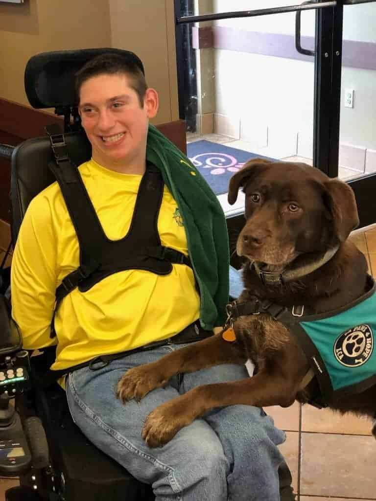 TJ and his service dog