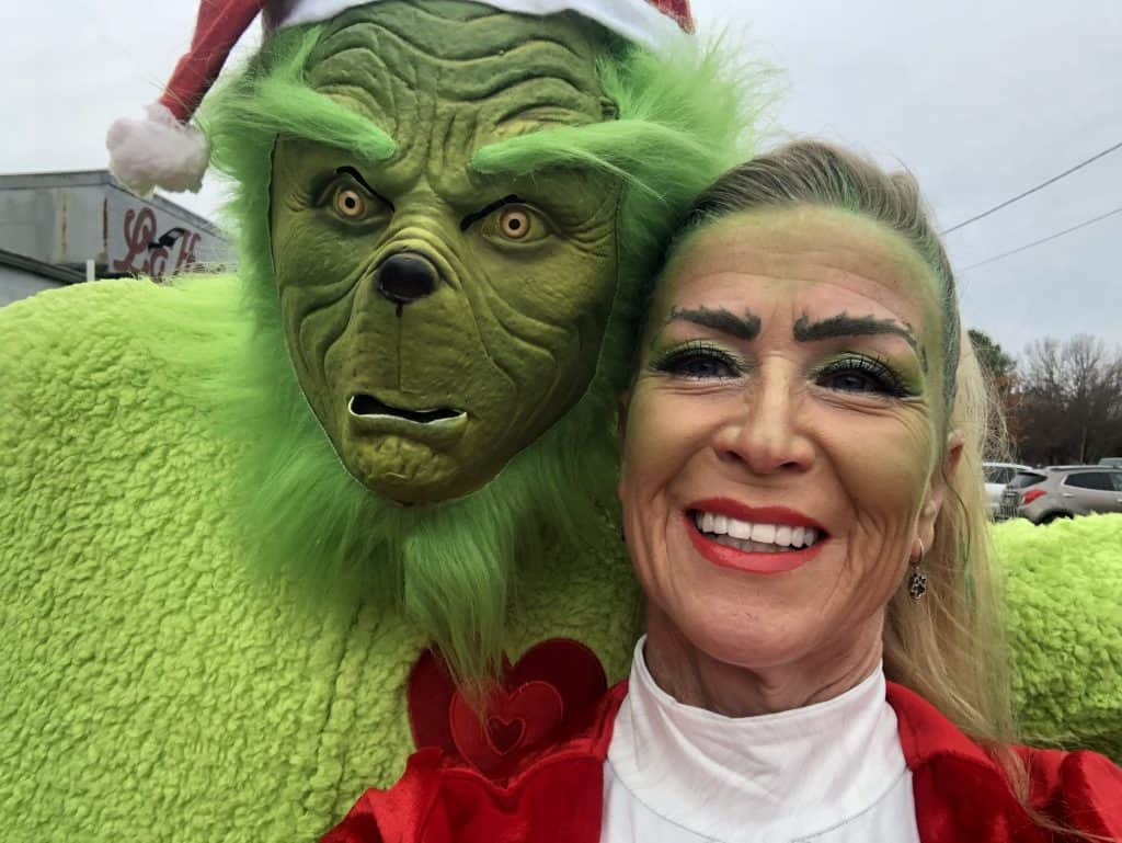 Tracy with the Grinch